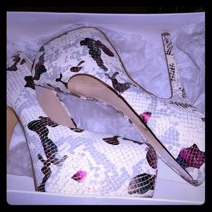 Steven Madden Baby multi snake platform heels